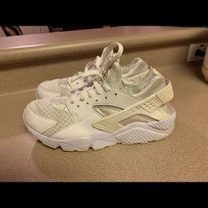 Nike Shoes - Nike Air Huarache Run Triple All White Men's 10.5